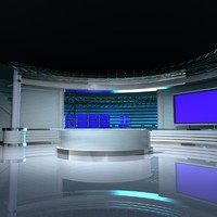 Virtual TV Studio Set 4