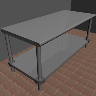 3d stainless steel table model