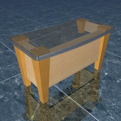 executive table 3d max