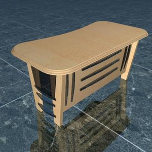 3d model executive table