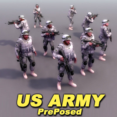 usarmy military 3d model