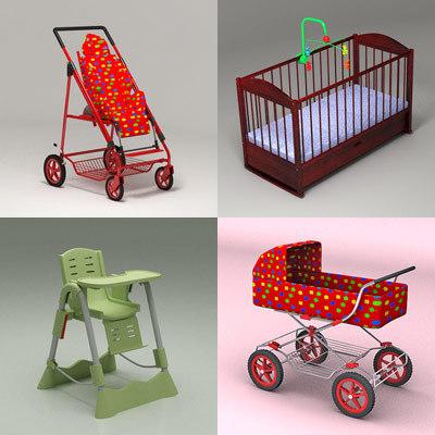 3d baby chair crib