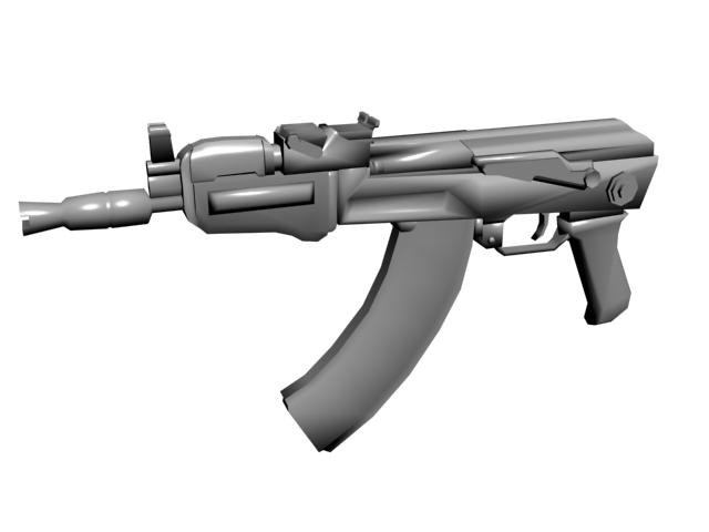 3d model aks-74u ak-74 ak74