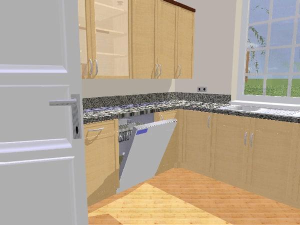 3d dishwasher asko