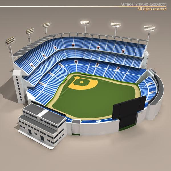 3d baseball stadium model