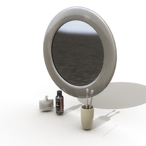 bathroom mirror 3d ma