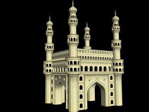 3d architecture charminar