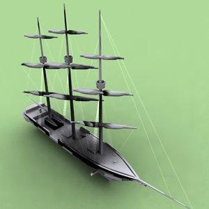 pelican clipper vessel 3d model