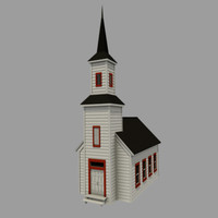 3d country chapel