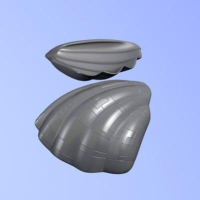 cockleshell 3d model