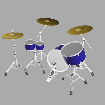 3d drum bass set