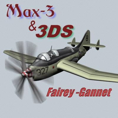 fairey gannet 3d model