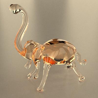 glass elephant 3d 3ds