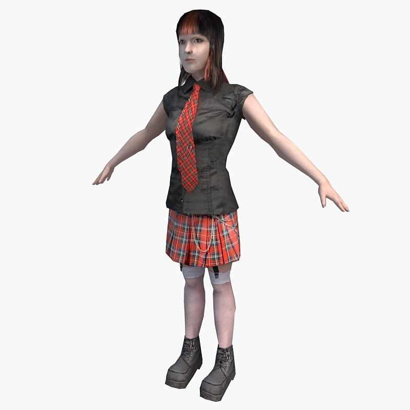 character female 01 3d c4d