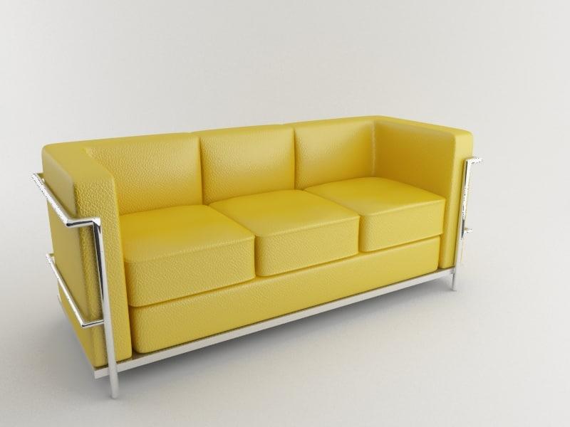 3 seat sofa 3d max