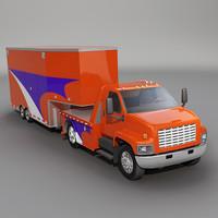 3dsmax truck goosenesck trailer