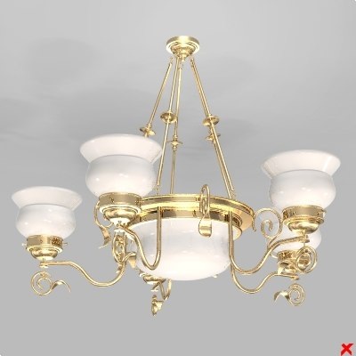 3d model chandelier light lamp