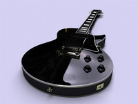 Gibson les paul custom black electric guitar