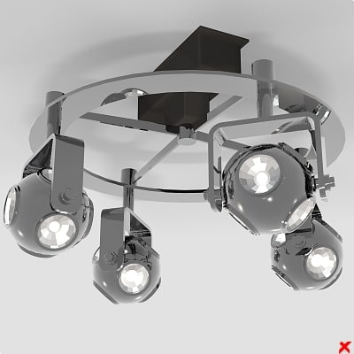 3d lamp adjustable model