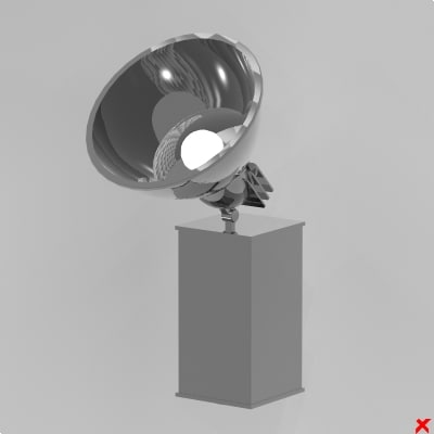 3d model lamp adjustable
