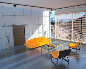 living room 3d 3ds