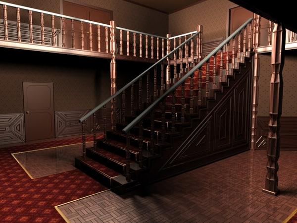 3d lightwave spooky house model