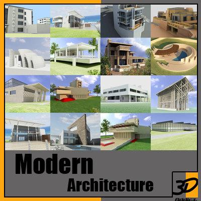 3d modern architecture der rohe model