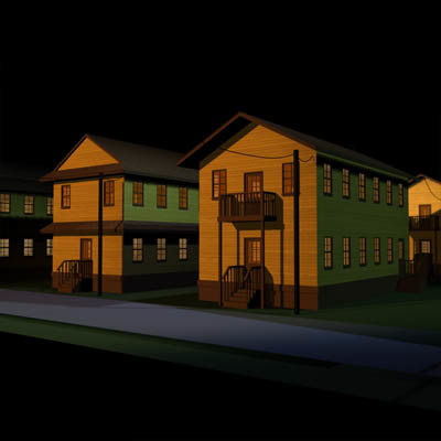 military barracks 01 buildings 3d model