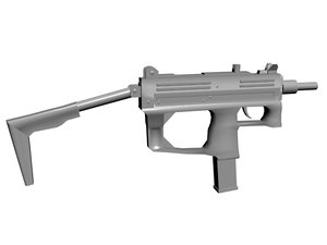 3d ruger mp9 submachine gun
