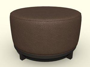 3d chair ottoman