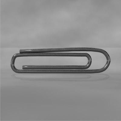 3d model paperclip rig