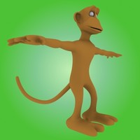 3ds max cartoon monkey