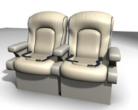 plane seat 3d model