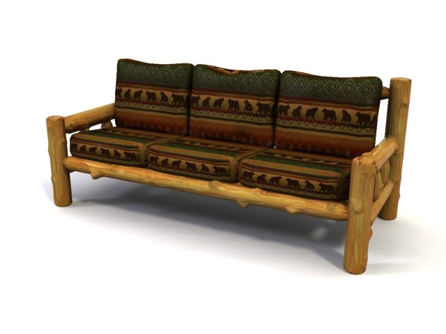 3dsmax log couch
