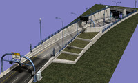 highway tunnel entrance 3d max