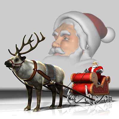maya reindeer sleigh santa claus