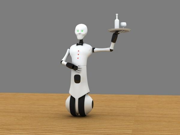 3d waiter robot