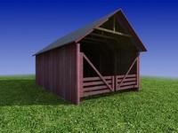 3d barn building