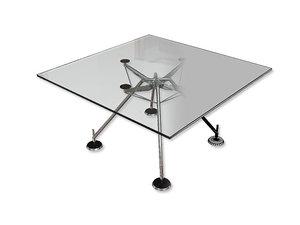 norman foster square desk 3d model