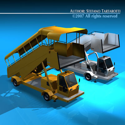 airfield stairs vehicle 3d model