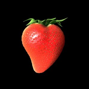 cinema4d strawberry berry