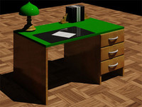 retro table lamp 3d model