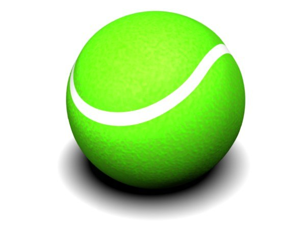 3d tennis ball tennisball model