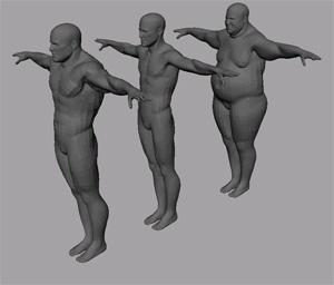 3d morph skinny fat