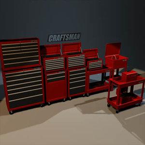 tool boxes 01 3d model