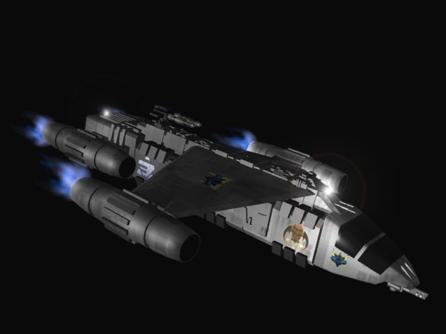 sci-fi space 3d model