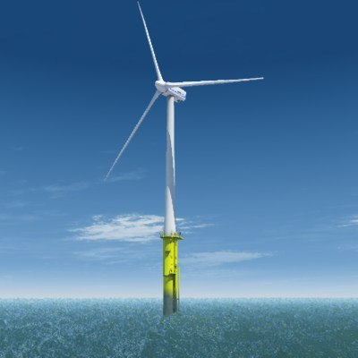 3ds max complete offshore wind turbine