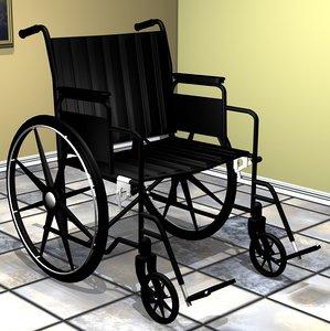 3d model wheelchair