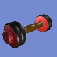 dumbbell exercise 3d model