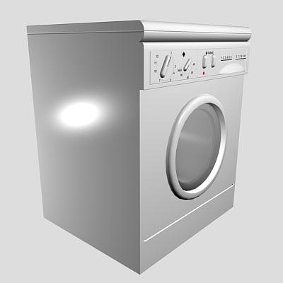 washing machine 3d 3ds